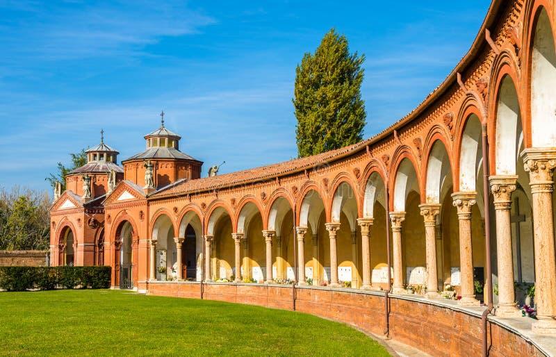 Der monumentale Kirchhof von Certosa - Ferrara stockfotografie
