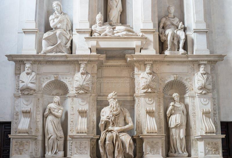 Der Moses durch Michelangelo, Rom, Italien lizenzfreie stockfotografie