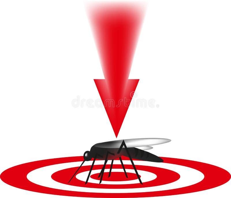 Der Moskito wird, das Schadinsekt getötet, vektor abbildung