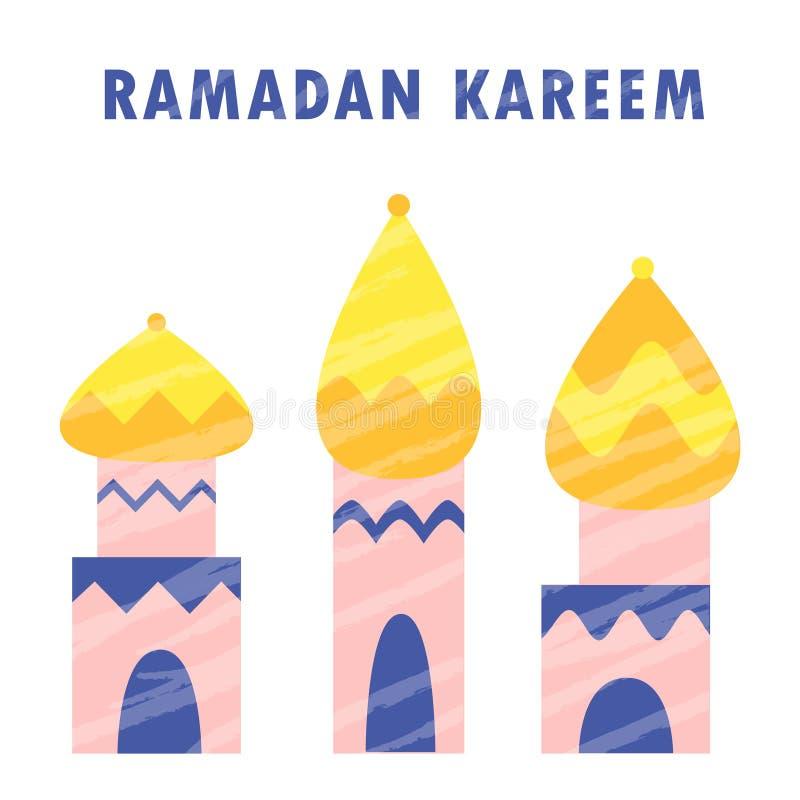 Der moslemischen arabische Feier Mubarak Islam-Religion Ramadan-kareem Moschee stock abbildung