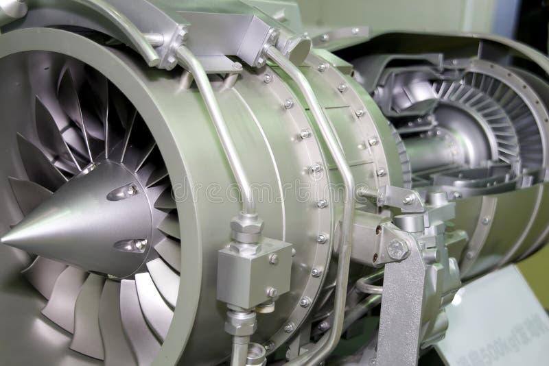 Der Motor des Flugzeuges lizenzfreie stockfotos