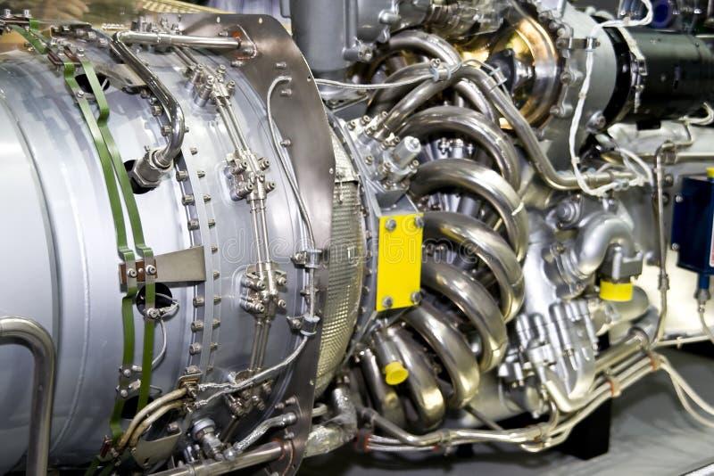 Der Motor des Flugzeuges lizenzfreies stockbild