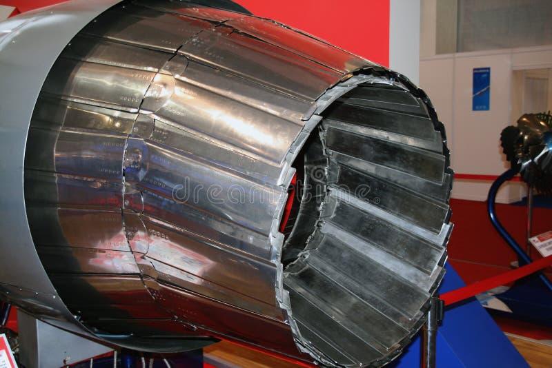 Der Motor des Flugzeuges stockfoto