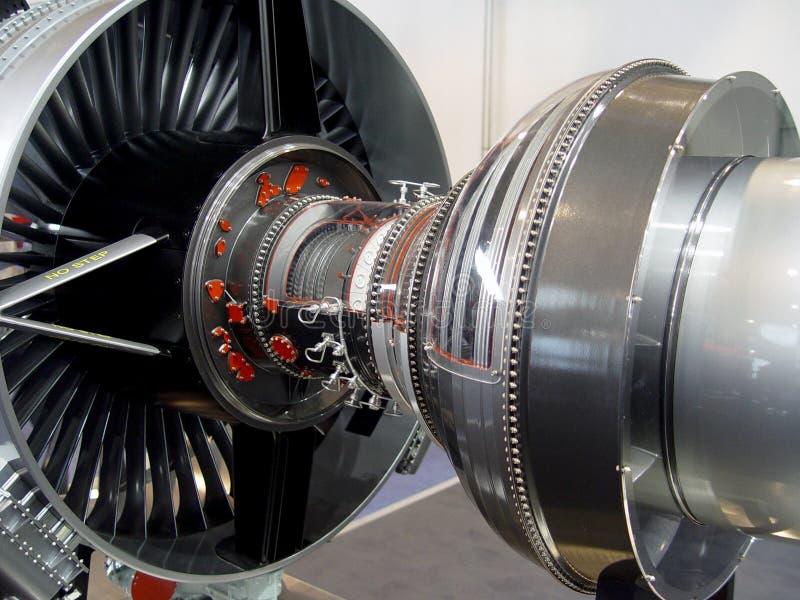 Der Motor des Flugzeuges stockbilder
