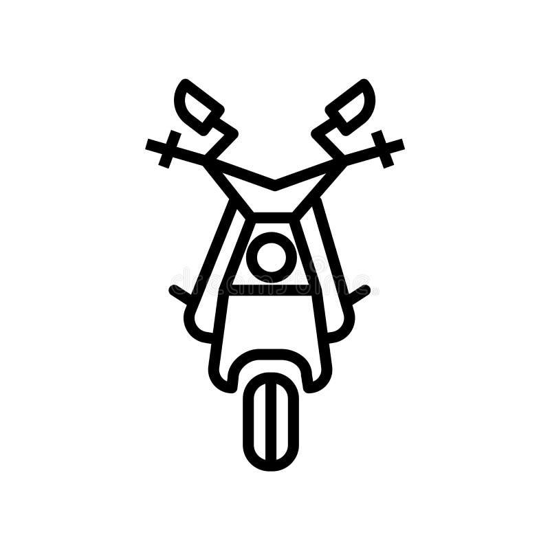 Der Motorsportikonenvektor, der auf weißem Hintergrund lokalisiert wird, Motorsporte unterzeichnen, lineares Symbol und Anschlagg lizenzfreie abbildung