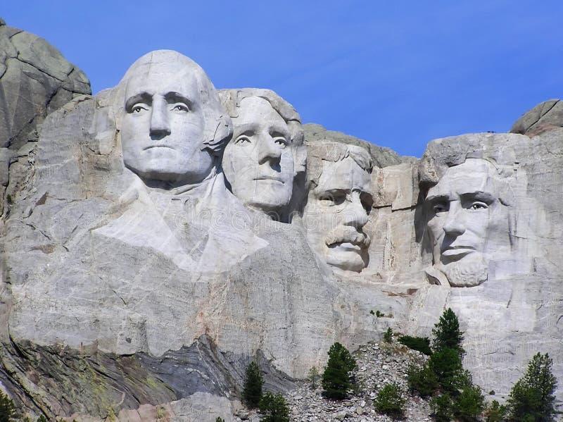 Der Mount Rushmore stellt von Präsidenten, South Dakota, USA gegenüber lizenzfreie stockbilder