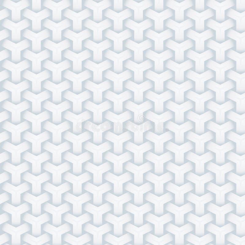 Der Musterbeschaffenheit 3d des nahtlosen geometrischen Hintergrundes der Zusammenfassung weiße Papierkunstentwurfs-Vektorillustr stock abbildung