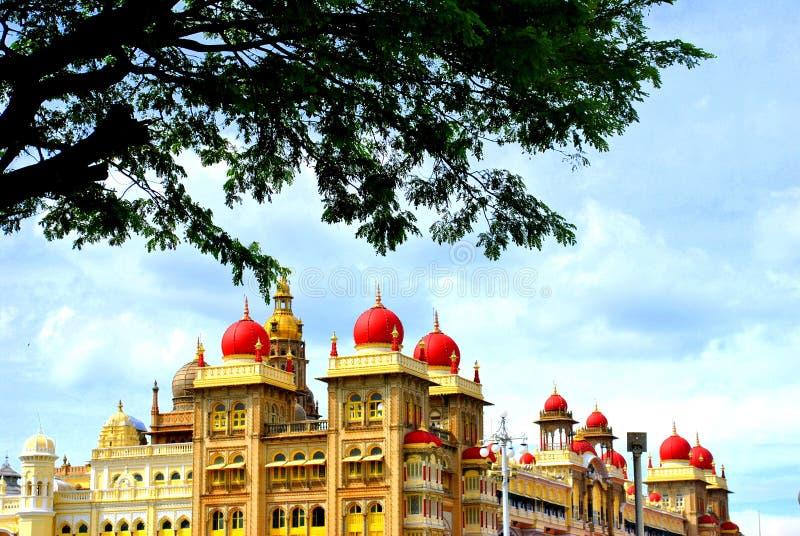 Der Mysore-Palast in der Stadt Mysore, Indien lizenzfreie stockfotos