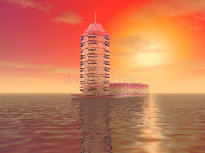 Der mysteriöse Eisturm vektor abbildung