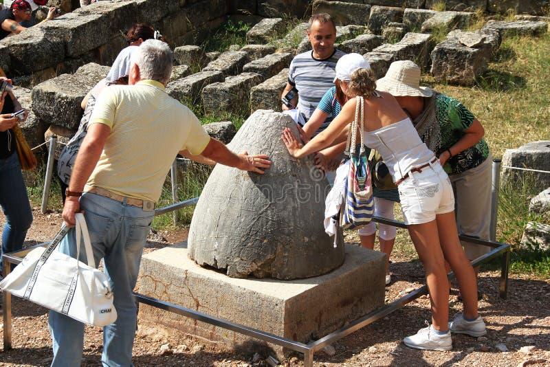 Der Nabel der Erde, Delphi Griechenland lizenzfreies stockfoto