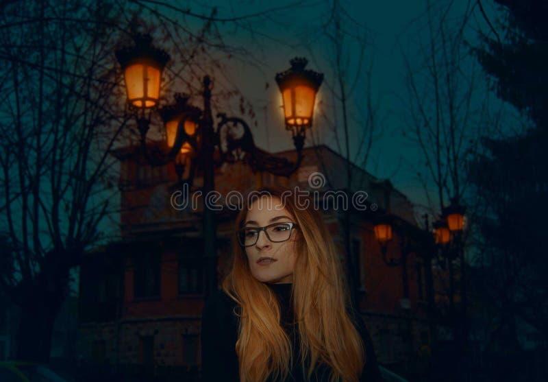 In der Nacht stockfotografie