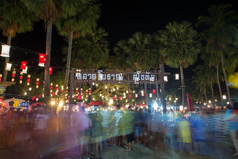 Der Nachtmarkt in heller Farbe S stockbild