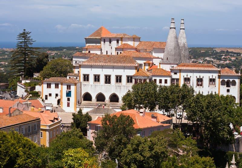 Der nationale Palast in Sintra, Portugal stockfotografie