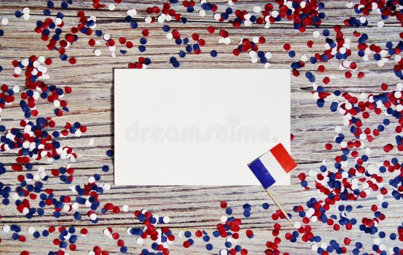 Der Nationalfeiertag vom 14. Juli ist ein gl?cklicher Unabh?ngigkeitstag von Frankreich, Franz?sischer Nationalfeiertag, das Konz lizenzfreie stockfotos