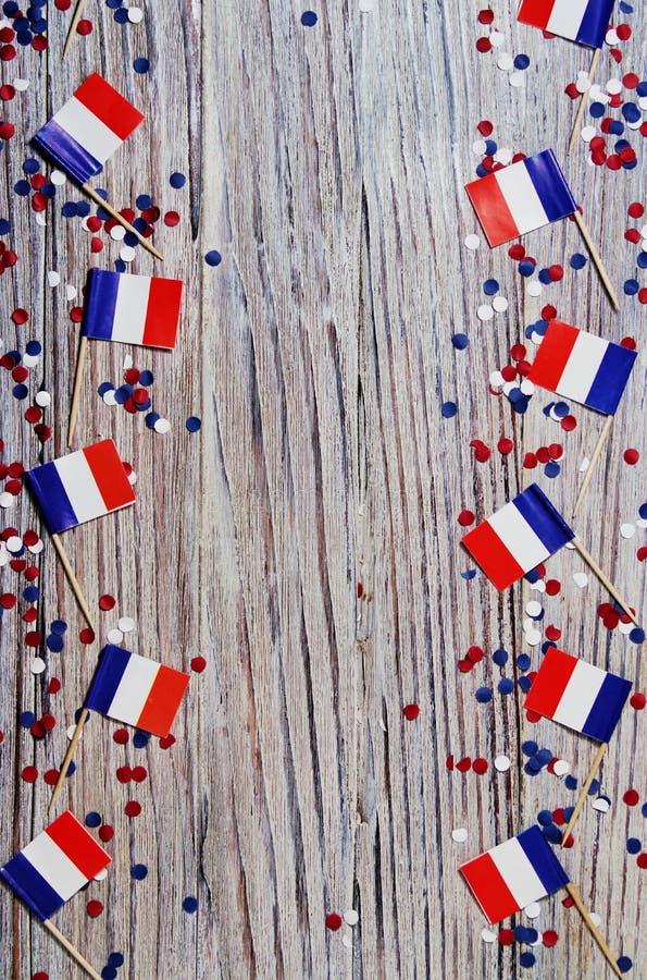 Der Nationalfeiertag vom 14. Juli ist ein gl?cklicher Unabh?ngigkeitstag von Frankreich, Franz?sischer Nationalfeiertag, das Konz lizenzfreies stockfoto