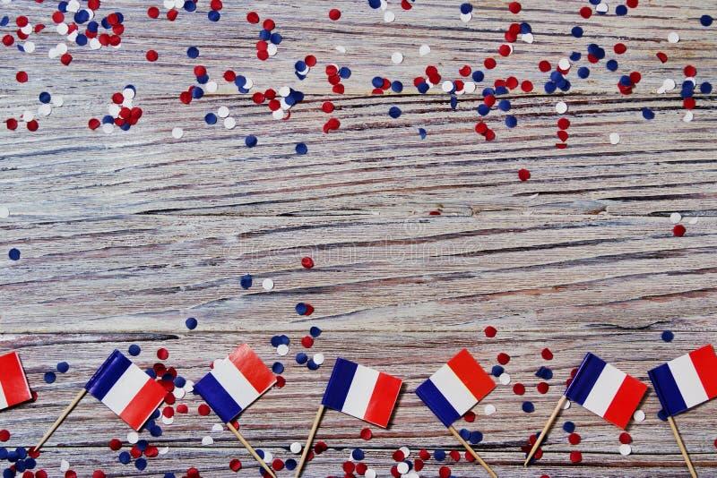 Der Nationalfeiertag vom 14. Juli ist ein gl?cklicher Unabh?ngigkeitstag von Frankreich, Franz?sischer Nationalfeiertag, das Konz lizenzfreie stockbilder