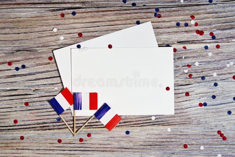 Der Nationalfeiertag vom 14. Juli ist ein gl?cklicher Unabh?ngigkeitstag von Frankreich, Franz?sischer Nationalfeiertag, das Konz stockfotos