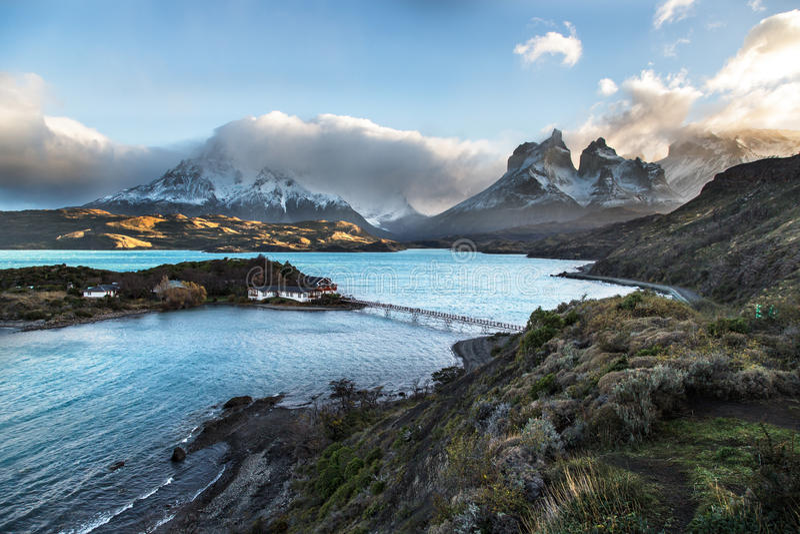 Der Nationalpark Torres Del Paine, Patagonia, Chile lizenzfreies stockfoto