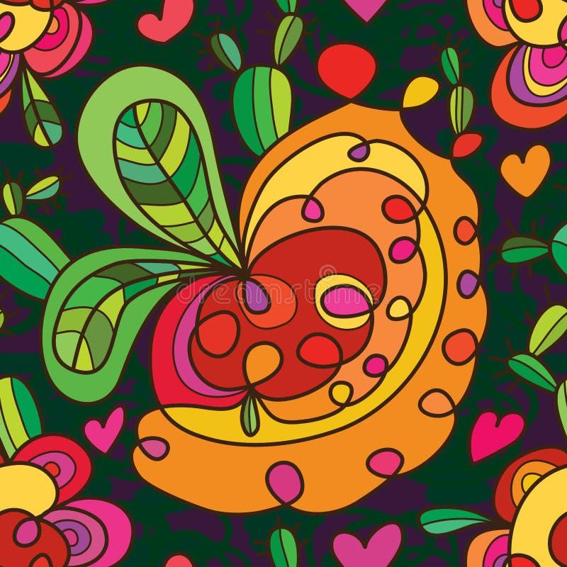 Der netten nahtloses Muster Loch-Art des Kaktus vektor abbildung