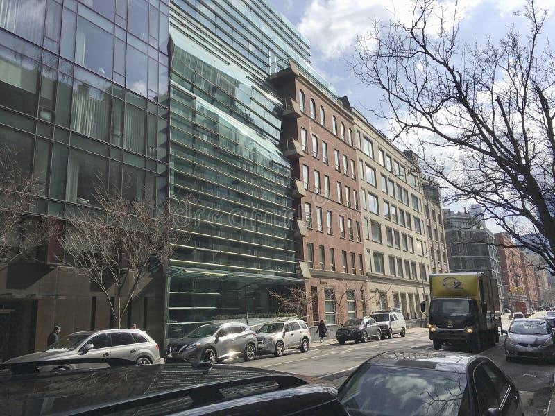 Der neue Blick nahe Greenwich und Frühlings-Straße in NYC stockfoto