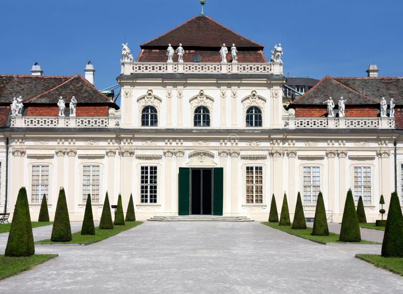 Der niedrigere Belvedere, Wien, Österreich stockbild