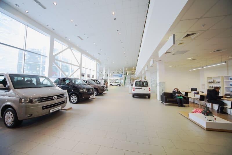 Der offizielle Händler Volkswagen stockbilder