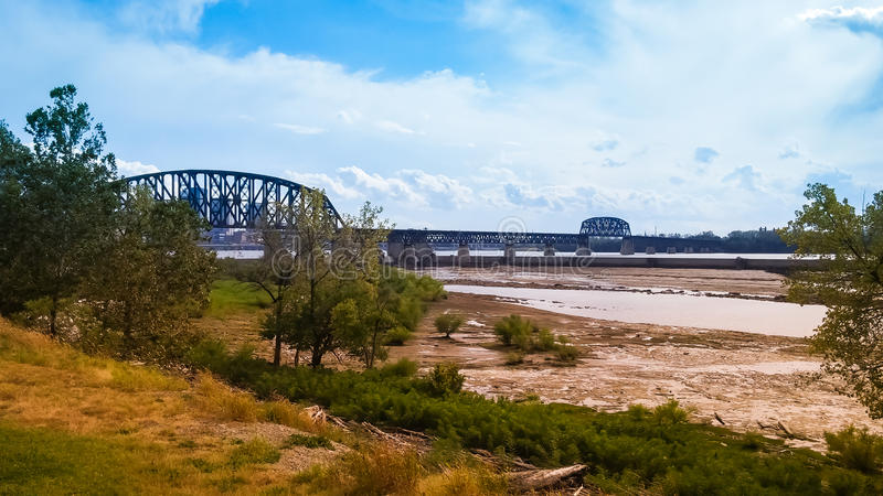 Der Ohio-Brücke Indiana Kentucky stockfotografie
