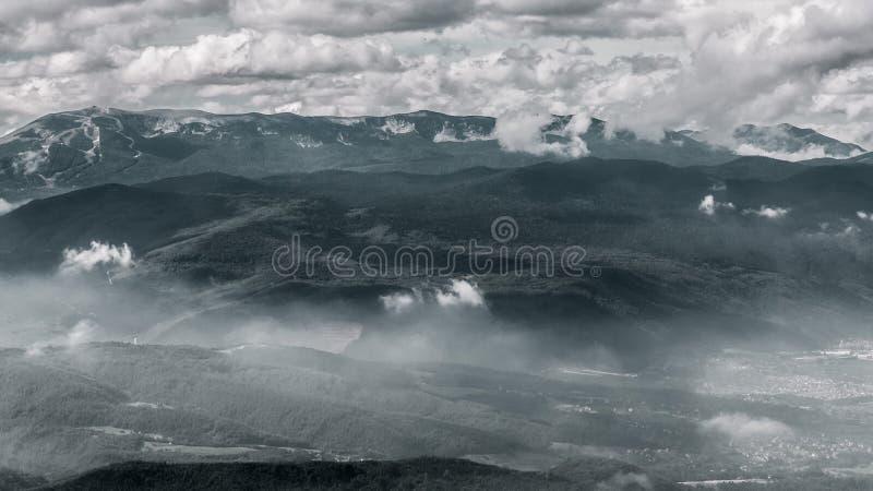 Der olympische Berg Bjelasnica stockfoto