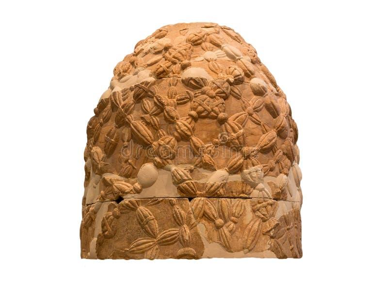 Der Omphalos Stein von Delphi, Griechenland, getrennt stockfoto