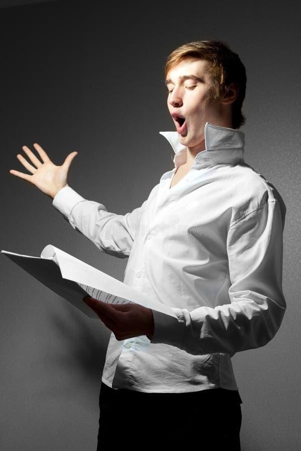 Der Operensänger lizenzfreies stockbild