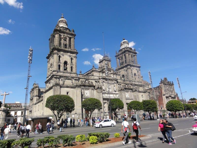 "Der Ort des Konstitution ""Zà ³ calo† †""Ciudad De Mexiko - Mexiko lizenzfreie stockfotos"