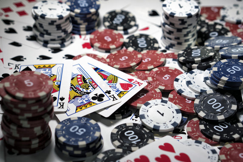 Der Ort eines Pokerspielers lizenzfreie stockbilder