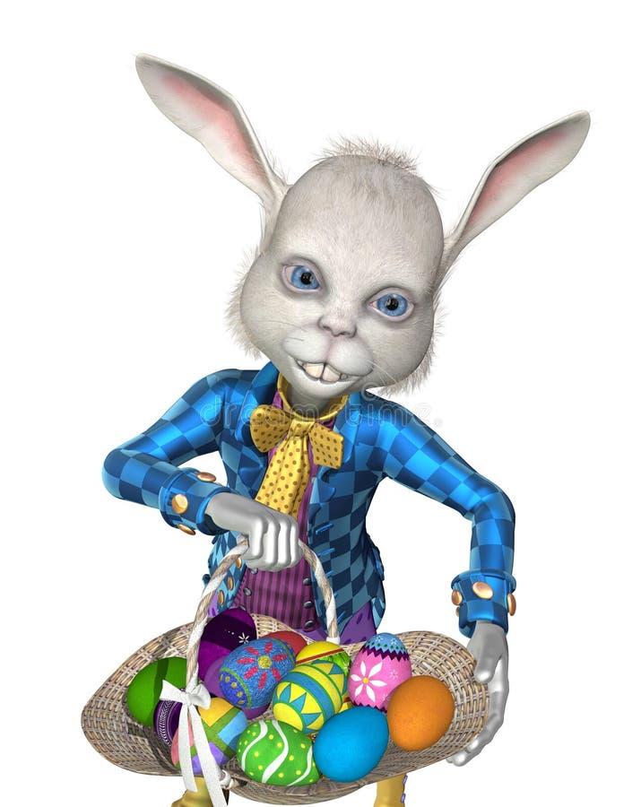 Der Osterhase hat zu teilen die Eier! lizenzfreie abbildung
