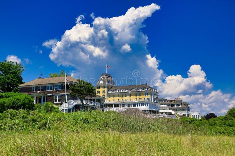 Der Ozean-Haus-Uhr-Hügel westliches RI stockbild
