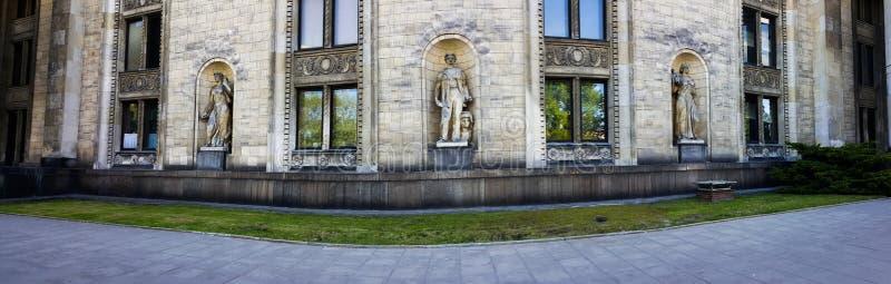 Der Palast der Kultur und der Wissenschaft lizenzfreies stockbild