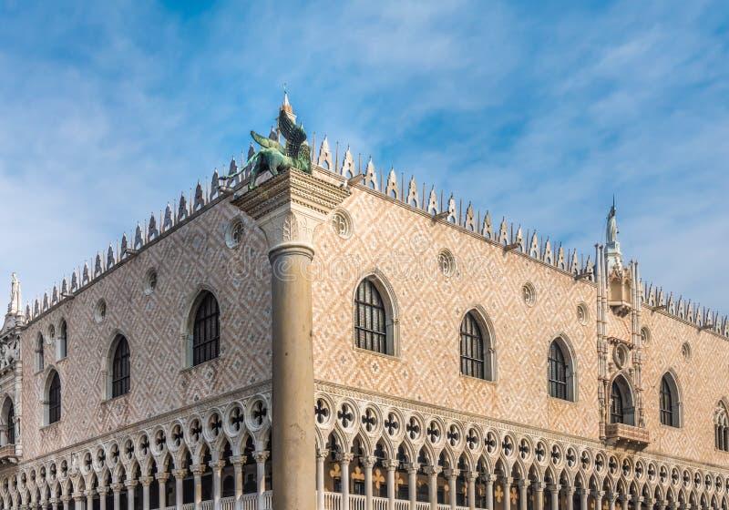 Der Palast des Dogen, Palazzo Ducale, venetianische gotische Art, Venedig, Venetien, Italien stockfoto