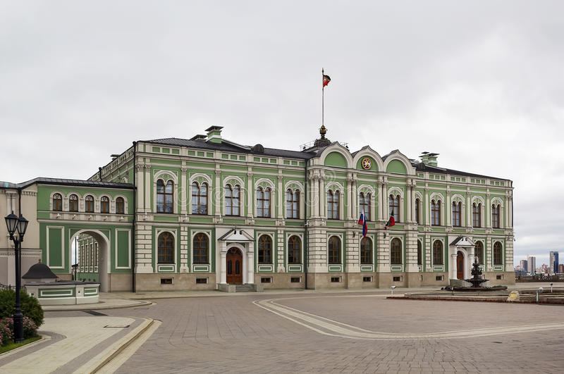 Der Palast des Gouverneurs, Kasan lizenzfreies stockfoto
