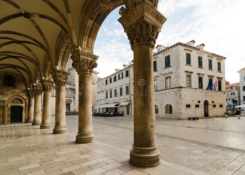 Der Palast des Rektors, Dubrovnik stockbilder