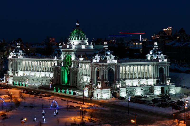 Der Palast der Landwirtschaft Kasan lizenzfreie stockbilder
