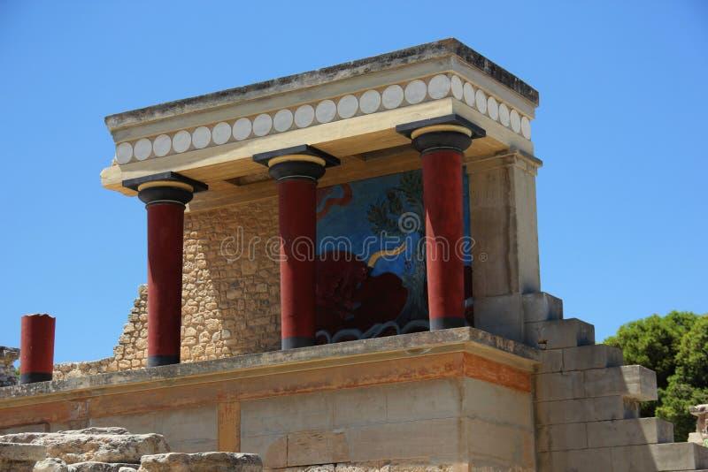 Der Palast von Knossos auf der Insel von Kreta lizenzfreie stockfotografie