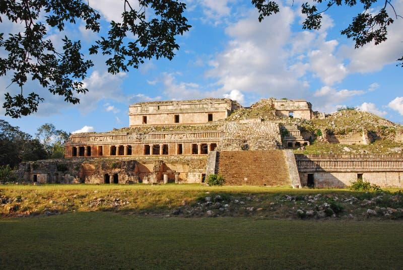 Der Palast von Sayil lizenzfreies stockbild