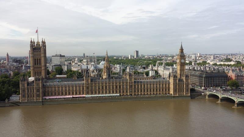 Der Palast von Westminster Ansicht von meinem Turmkran lizenzfreie stockbilder
