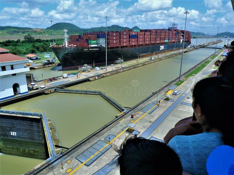 Der Panamakanal stockfotos