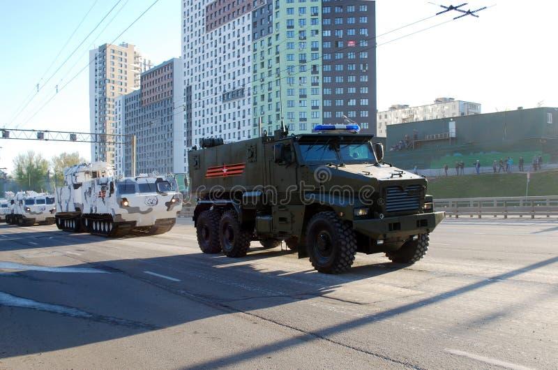 Der Panzerkampfwagen des russischen Mehrfachzweckes der erhöhten Sicherheit von 'Tayfun-U 'Urals-63099 lizenzfreie stockfotografie