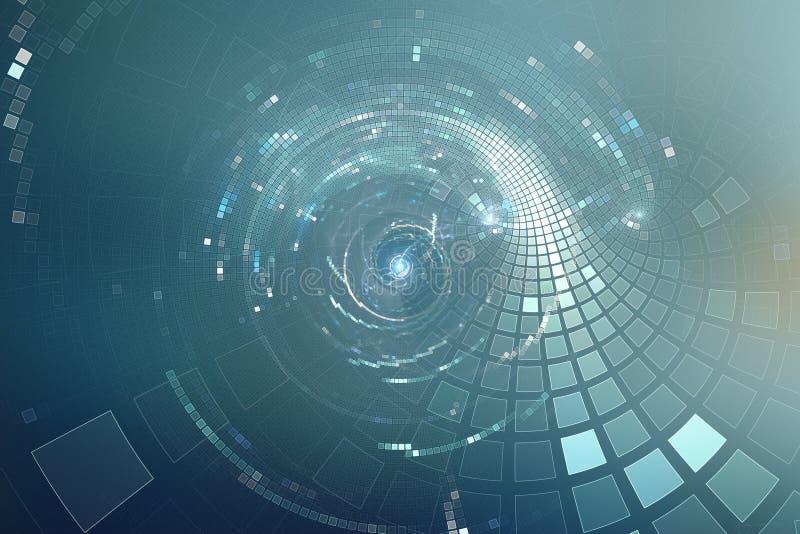 der Partei-Disco der Zusammenfassung 3D futuristischer Hintergrund lizenzfreie abbildung