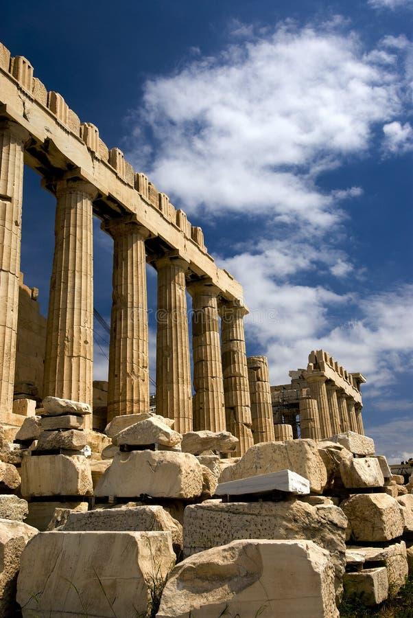 Der Parthenon in Athen lizenzfreie stockfotografie