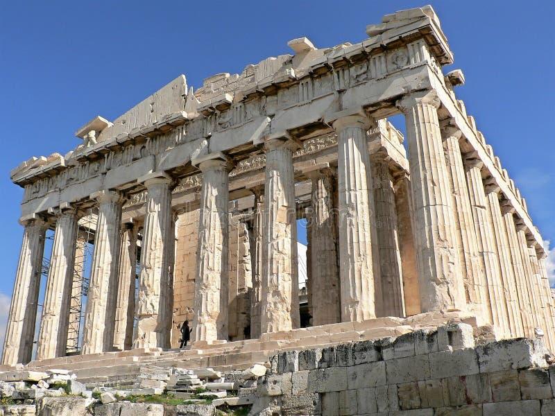 Der Parthenon-Tempel in der Akropolise von Athen, Griechenland stockbild