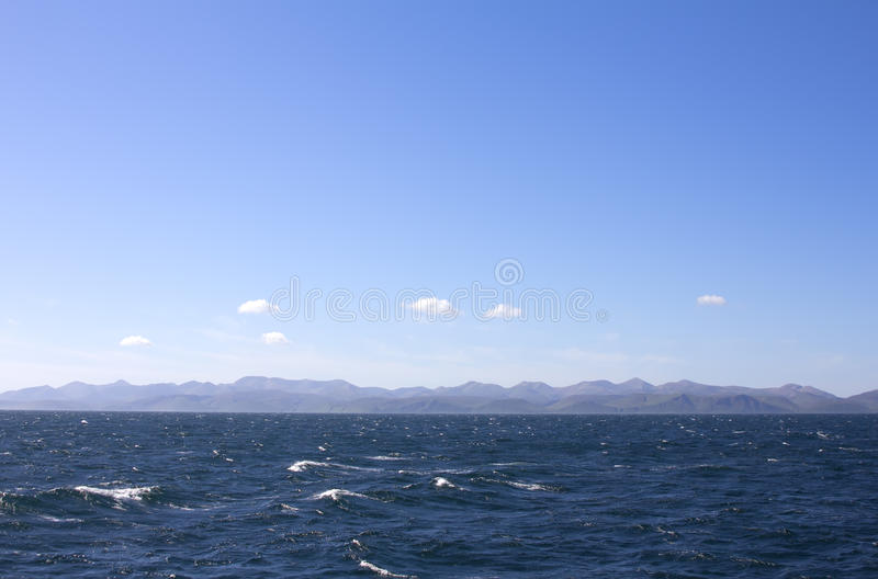 Der Pazifische Ozean Kommandant Islands stockbild