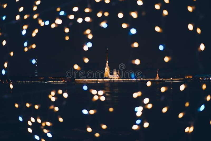 Der Peter und Paul Fortress ist die ursprüngliche Zitadelle von St Petersburg, Russland, gegründet durch Peter der Große im Jahre lizenzfreies stockfoto