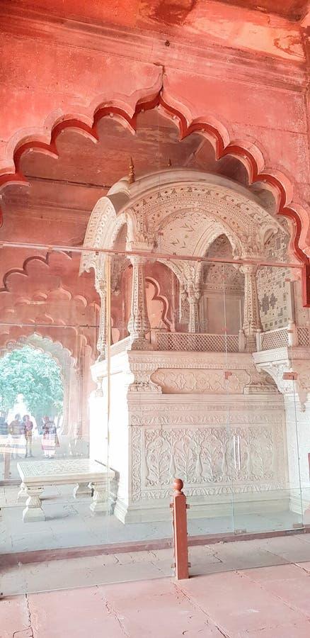 Der Pfau-Thron im roten Fort, Delhi lizenzfreies stockbild